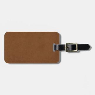 Plantilla de cuero bronceada vintage del pergamino etiqueta de equipaje