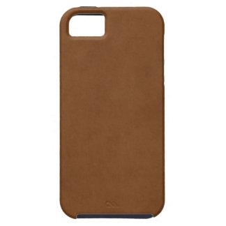 Plantilla de cuero bronceada vintage del pergamino iPhone 5 cárcasas