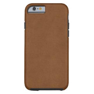 Plantilla de cuero bronceada vintage del pergamino funda resistente iPhone 6
