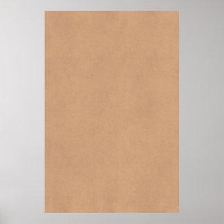 Plantilla de cuero del papel de pergamino de Brown Posters