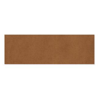 Plantilla de cuero del papel de pergamino de Brown Tarjetas De Visita Mini