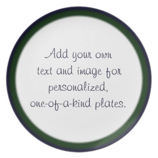 Plantilla de dos filos azul/del verde de la placa plato