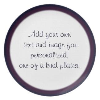 Plantilla de dos filos azul/púrpura de la placa platos