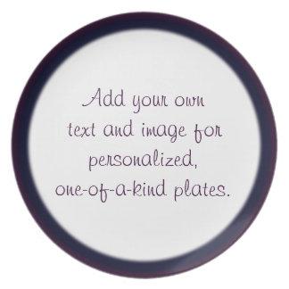 Plantilla de dos filos púrpura/azul de la placa plato de comida