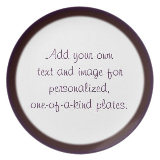 Plantilla de dos filos púrpura/roja de la placa plato de comida