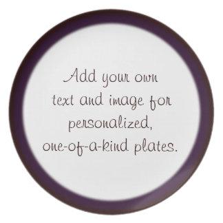 Plantilla de dos filos roja/púrpura de la placa platos para fiestas