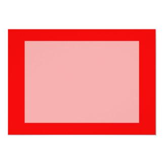 plantilla de encargo brillante del fondo del rojo invitación 12,7 x 17,8 cm