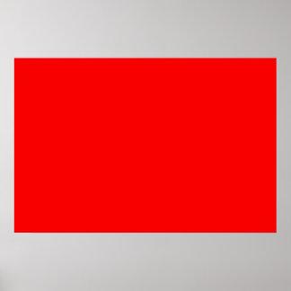 plantilla de encargo brillante del fondo del rojo  poster