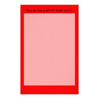 plantilla de encargo brillante del fondo del rojo  papeleria de diseño