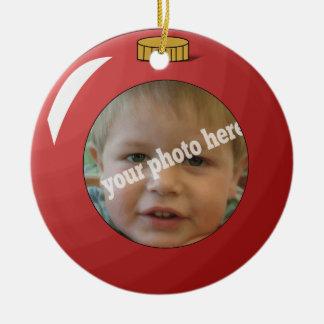 Plantilla de encargo de la foto del navidad del or adornos