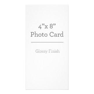Plantilla de encargo de la tarjeta de la foto tarjeta personal con foto