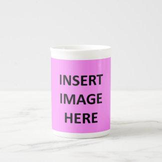 Plantilla de encargo de la taza de la porcelana de taza de porcelana