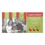 Plantilla de encargo del acebo y de la hiedra buen tarjeta personal con foto