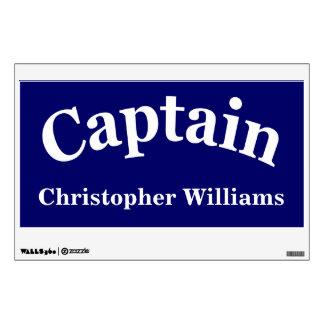 Plantilla de encargo del capitán vinilo decorativo