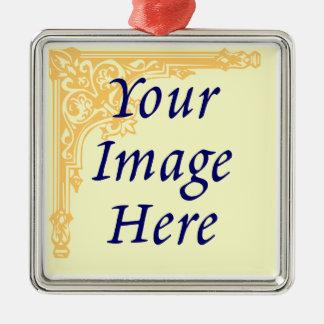 Plantilla de encargo del ornamento de la foto