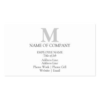 Plantilla de encargo elegante del monograma tarjetas de visita