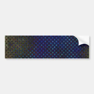 Plantilla de encargo: Modelo de semitono azul mari Etiqueta De Parachoque
