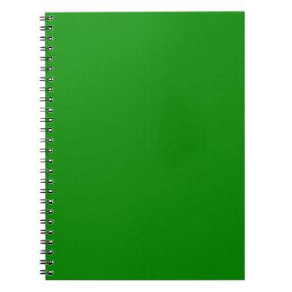 plantilla de encargo verde del fondo del MED DIY Spiral Notebook