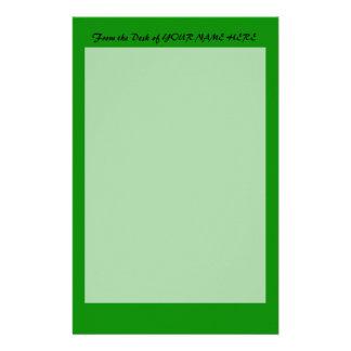 plantilla de encargo verde del fondo del MED DIY Papelería De Diseño