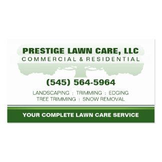 Plantilla de encargo verde y blanca del cuidado tarjetas de visita