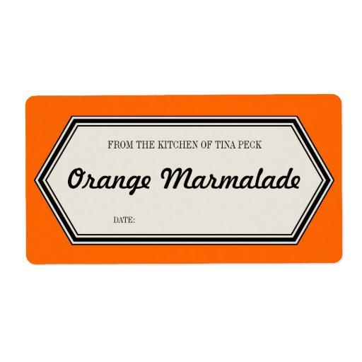 Plantilla de enlatado casera de la etiqueta del ta etiquetas de envío