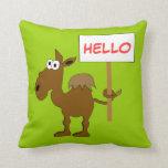 Plantilla de la almohada del camello