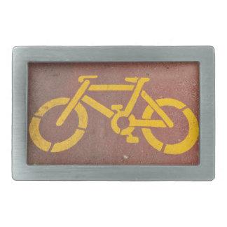 plantilla de la bicicleta hebillas cinturón rectangulares