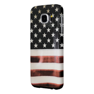 Plantilla de la caja de la bandera americana fundas samsung galaxy s6