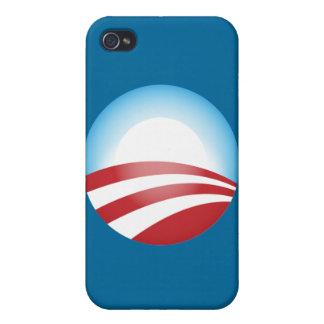Plantilla de la caja de la mota de Obama iPhone 4 Carcasas