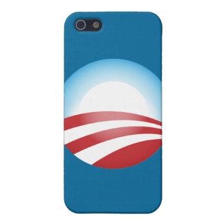 Plantilla de la caja de la mota de Obama iPhone 5 Carcasas