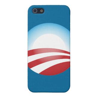 Plantilla de la caja de la mota de Obama iPhone 5 Funda