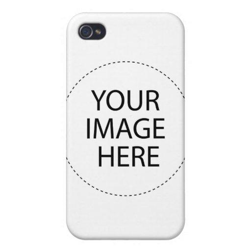 Plantilla de la caja de la mota iPhone 4 coberturas