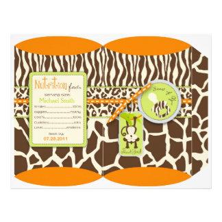 Plantilla de la caja del mono del safari y del est flyer personalizado