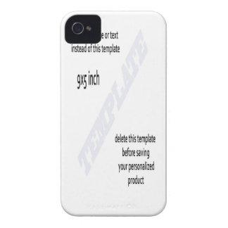 PLANTILLA de la caja del teléfono de la zarzamora iPhone 4 Case-Mate Cárcasas