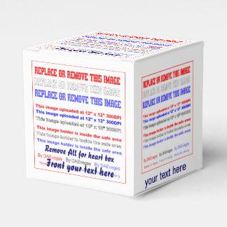 Plantilla de la caja sobre la opinión trasera de caja para regalo de boda