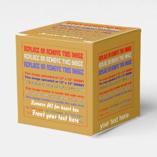 Plantilla de la caja sobre la opinión trasera de cajas para detalles de boda