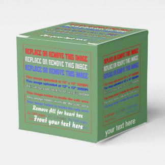Plantilla de la caja sobre la opinión trasera de cajas para regalos