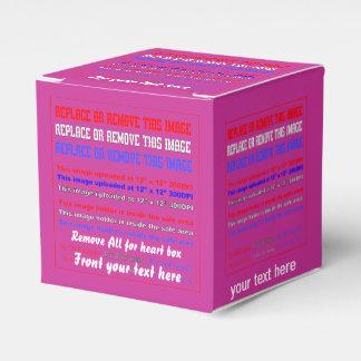 Plantilla de la caja sobre la opinión trasera de cajas para regalos de boda