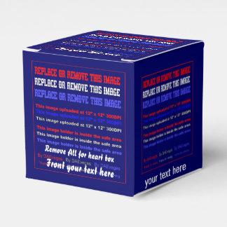 Plantilla de la caja sobre la opinión trasera de cajas para regalos de fiestas
