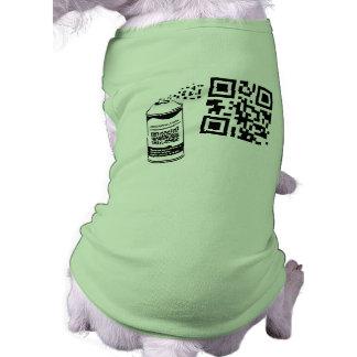 Plantilla de la camisa del mascota de la pintura d playera sin mangas para perro