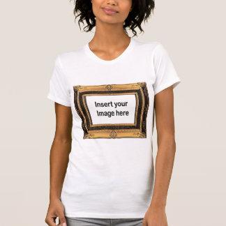 Plantilla de la camiseta del marco del vintage playeras