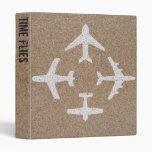 Plantilla de la carpeta de Avery de los aviones (e