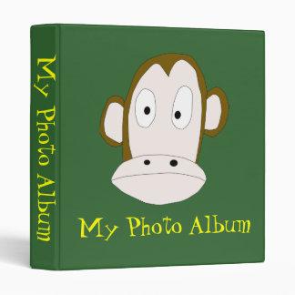 Plantilla de la carpeta del álbum de foto del mono