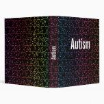 plantilla de la carpeta del puzzel del autismo