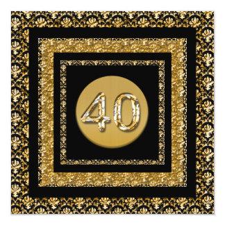 Plantilla de la celebración del fiesta del jalón invitación 13,3 cm x 13,3cm