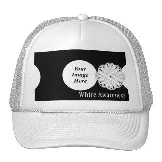 Plantilla de la cinta de la flor blanca de Kenneth Gorras