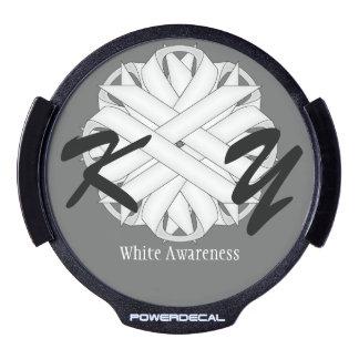 Plantilla de la cinta de la flor blanca decal LED para ventana