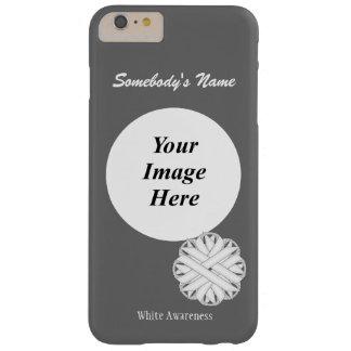 Plantilla de la cinta de la flor blanca funda de iPhone 6 plus barely there