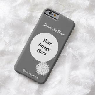 Plantilla de la cinta de la flor blanca funda para iPhone 6 barely there