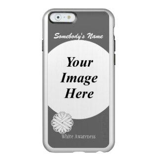 Plantilla de la cinta de la flor blanca funda para iPhone 6 plus incipio feather shine